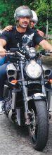John Abrahan rides a Yamaha V-Max