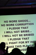 Youth take pledge against corruption