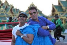 Ajay Devgn and Sanjay Dutt in Rascals.