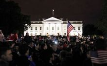 President Barack Obama announcing Osama Bin Laden's death