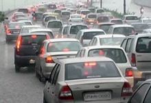 Commuters faced trouble due to the rain
