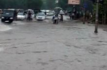 Water logged road in Delhi