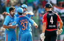 India celebrates dismissal of Jonathan Trott