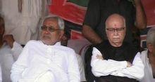 Nitish Kumar with L.K. Advani