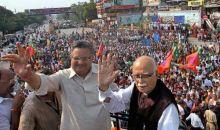 L.K. Advani during Jan Chetna Yatra