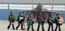 All women paratrooper team