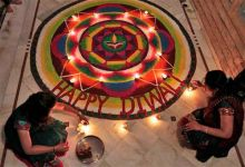 Rangoli a hand decorated pattern on the floor