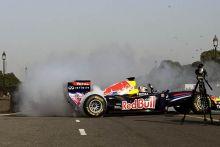 Daniel Ricciardo in action at Rajpath