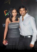 Narain Karthikeyan with his wife Pavarna