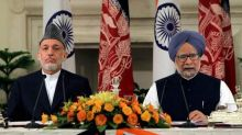 Hamid Karzai and Manmohan Singh