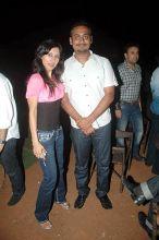 Abhinav Kashyap and his wife