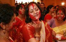 sindur khela celebrations