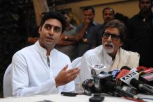 Abhishek with father Amitabh Bachchan