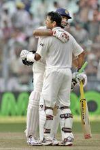 V.V.S. Laxman and Rahul Dravid