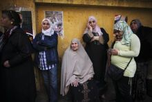 Voters during the parliamentary election in Cairo