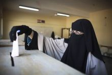 Voter during the parliamentary election in Cairo