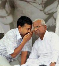 Arvind Kejriwal and Anna Hazare.
