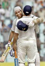 India skipper Mahendra Singh Dhoni and V.V.S. Laxman