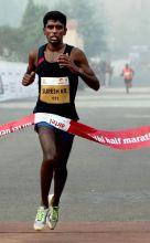 Participant at the Delhi Half Marathon 2011.