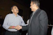 Praful Patel and Ravi Shastri