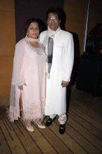 Suman Shekhar with wife