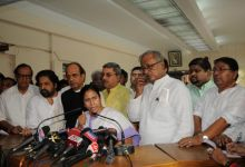 Mamata Banerjee with other Trinamool Congress