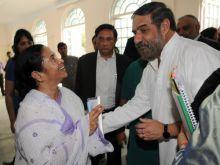 Anand Sharma with Mamata Banerjee