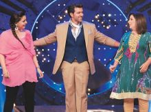 Hrithik Roshan with Farah Khan and Vaibhavi Merchant