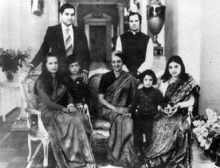 Indira Gandhi with her family