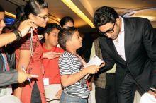 Abhishek Bachchan with a young fan