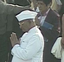 Anna Hazare at Rajghat