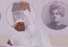 Anna Hazare at MMRDA grounds