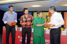 Kiran Bedi with Kris Srikkanth, R. Ashwin and Suresh Raina
