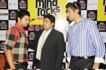 Sunder Iyer with Suresh Raina and R. Ashwin