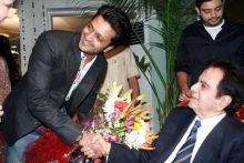 Riteish Deshmukh and Dilip Kumar