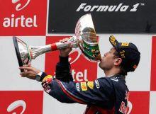 Red Bull's Sebastian Vettel won the first India Grand Prix