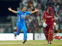 Irfan Pathan and Lendl Simmons