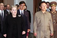 Former Secretary of State Madeleine Albright with Kim Jong Il in Pyongyang, North Korea