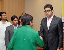 Kiran Bedi with Abhishek Bachchan