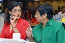 Kalli Purie with Kiran Bedi