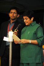 Kiran Bedi and Akash Banerjee
