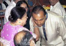 Anil Ambani with mother Kokilaben