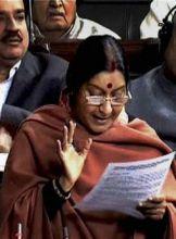 Leader of Opposition in the Lok Sabha Sushma Swaraj