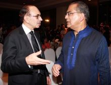 Adi Godrej with Aroon Purie