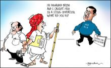 India Today cartoonist Narsim's take on AAP MLA's allegations of bribe offer from BJP.