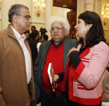 Aroon Purie and Meghnad Desai