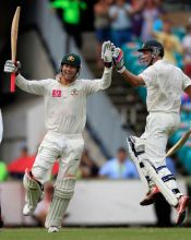Michael Clarke and Michael Hussey