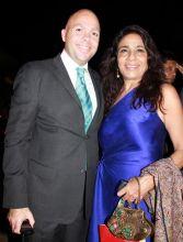 Faiek El Saadani with Rashmi Uday Singh