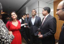 Kalli Purie with Karan Paul and Sanjay Budhia