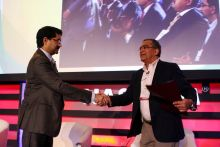 Chairman of Aditya Birla Group Kumar Mangalam Birla with India Today Editor-in-Chief Aroon Purie